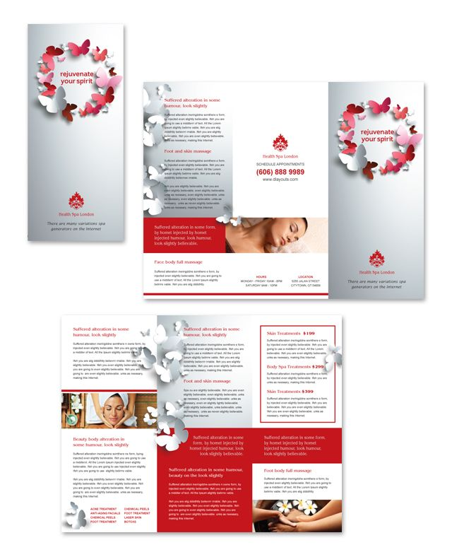 Beauty Spa Tri Fold Brochure Template HttpWwwDlayoutsCom
