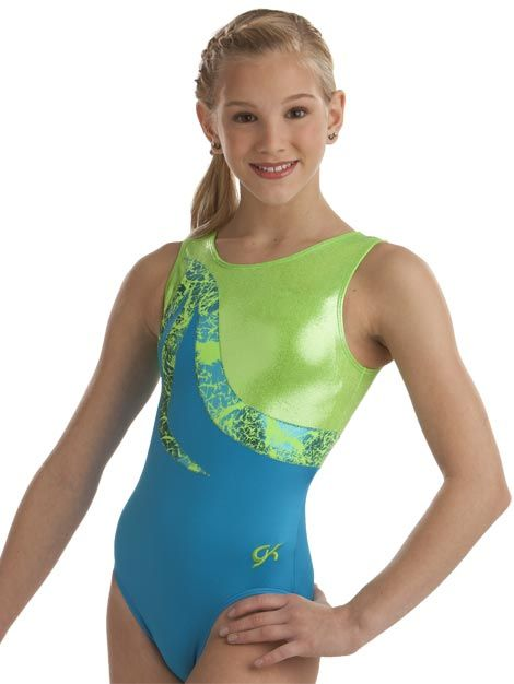 Turquoise   Lime Gymnastics Leotard from GK Elite  f3e64cbecfd