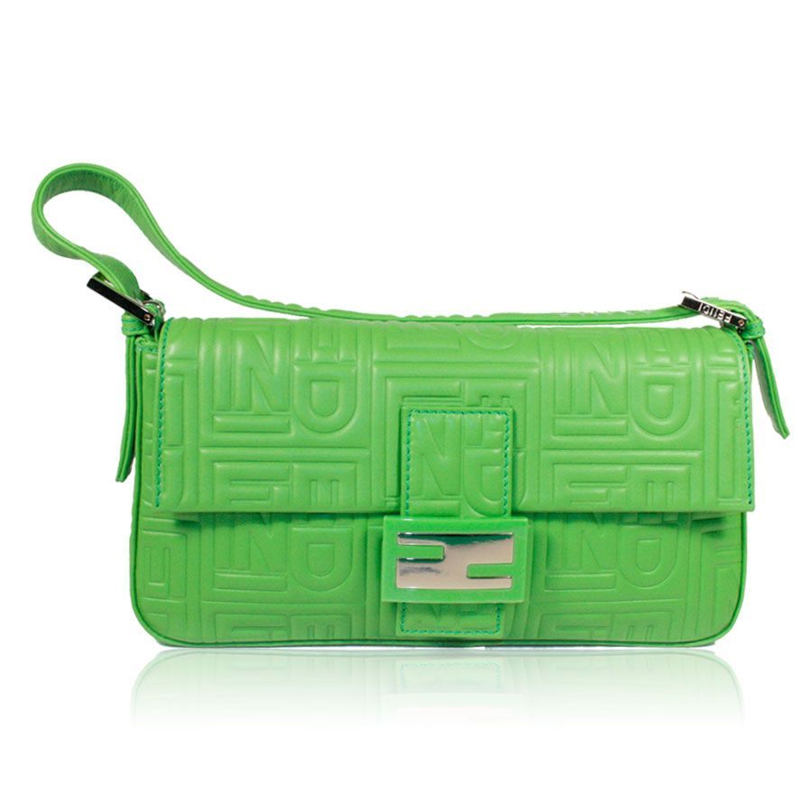 Fendi handbag classic Baguette Neon Green - Nero Collection ...