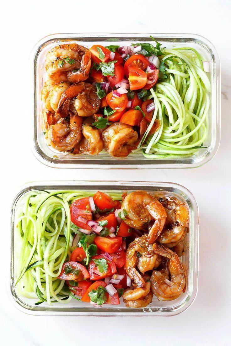 Shrimp and Zucchini Noodles Meal Prep Shrimp and Zucchini Noodles Meal Prep