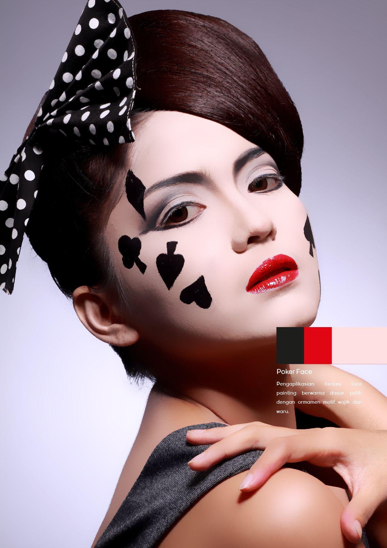 poker face makeup conceptual beauty conceptual make up pinterest fasching spielkarten. Black Bedroom Furniture Sets. Home Design Ideas
