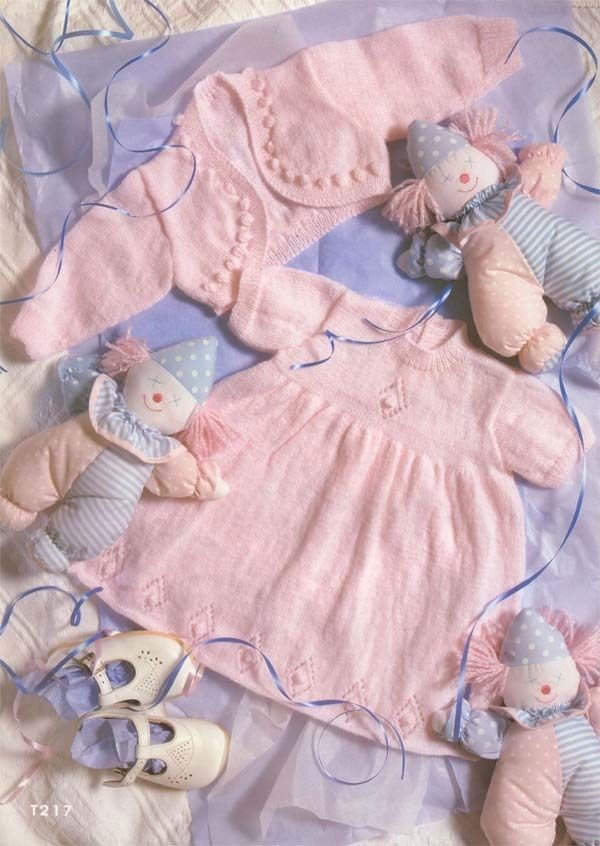 Girl Dress and Bolero Cardigan Knitting pattern in 3ply wool TO KNIT ...