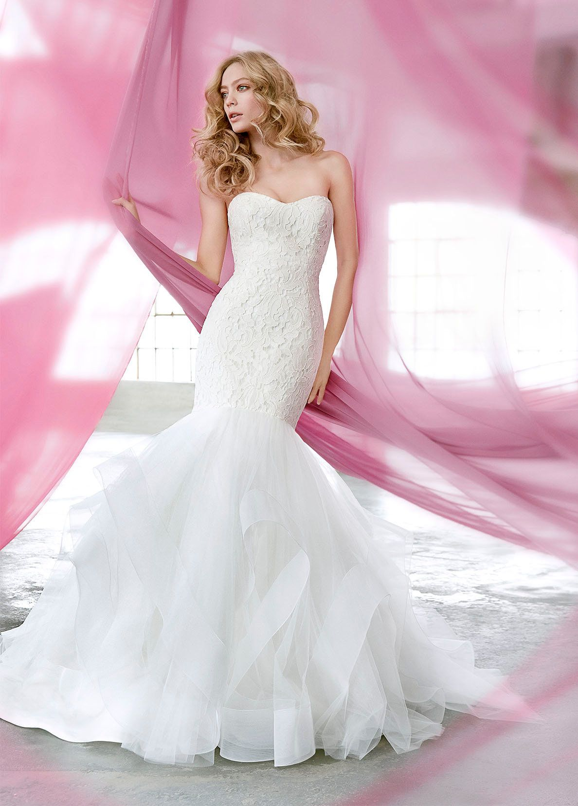 Sexy Mermaid Wedding Dress by BLUSH by Hayley Paige - Image 1 zoomed ...