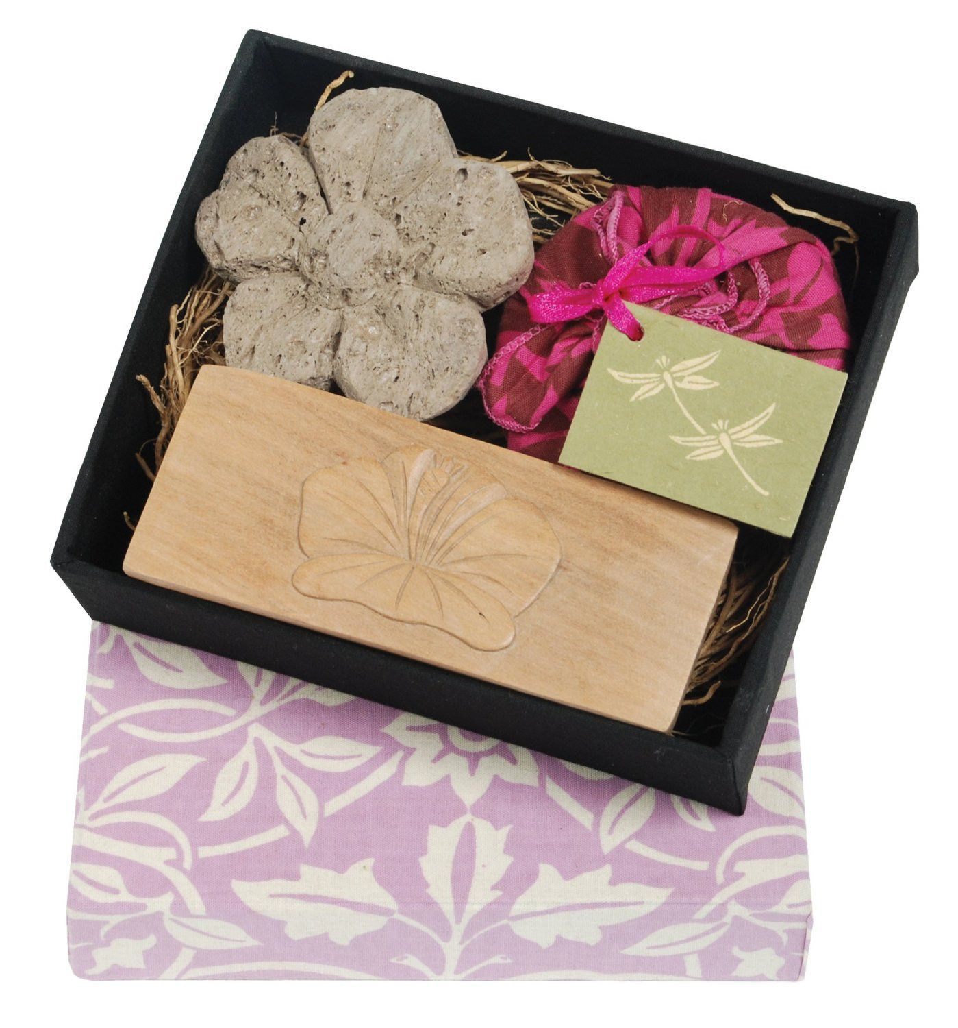 Flower pumice brush and soap boxed set pumice soap boxes and box