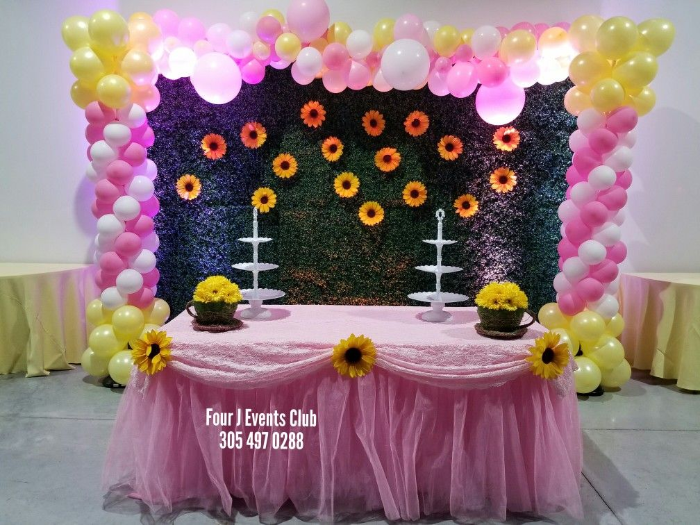 Flowers Baby Shower Indoor Party Place To Rent Call Now 305 497 0288 Www Fourjeventsclub Com Fo Baby Shower Flowers Happy Birthday Celebration Party Places