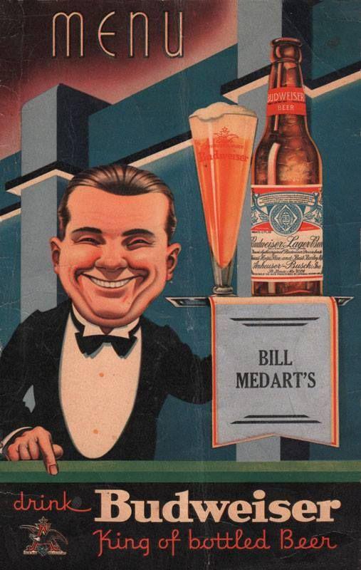 Medart\u0027s menu 1930\u0027s St Louis Brews Pinterest