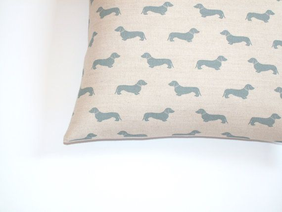 Dachshund / Weiner Dog Cushion / Throw Pillow cover by