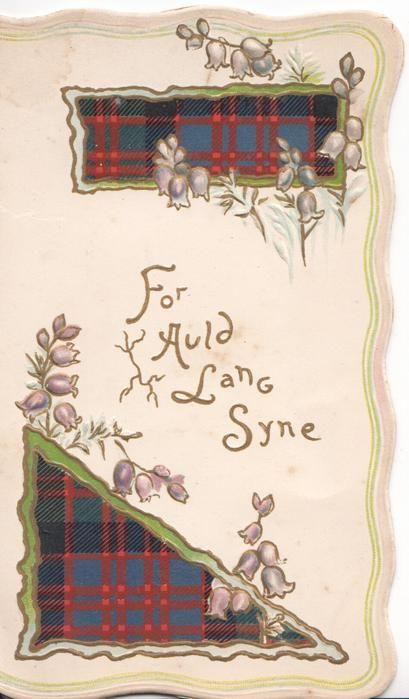 Victorian scottish new years greeting card with purple heather and victorian scottish new years greeting card with purple heather and tartan m4hsunfo