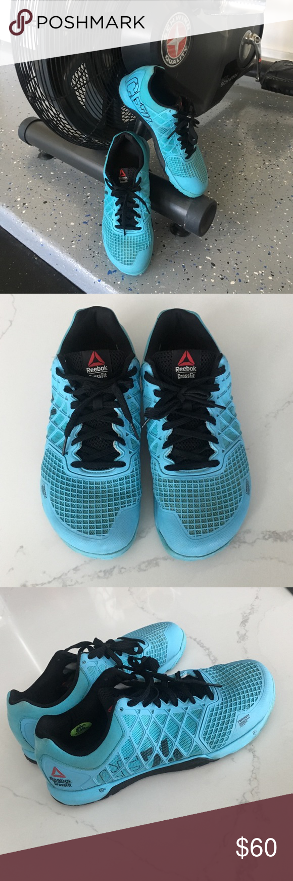 e3853efd6685 Host Pick  Reebok Mens CrossFit Nano 4.0 shoes These neon blue   black  Reebok CrossFit Nano 4.0 shoes have only been worn in the gym and therefore  are in ...