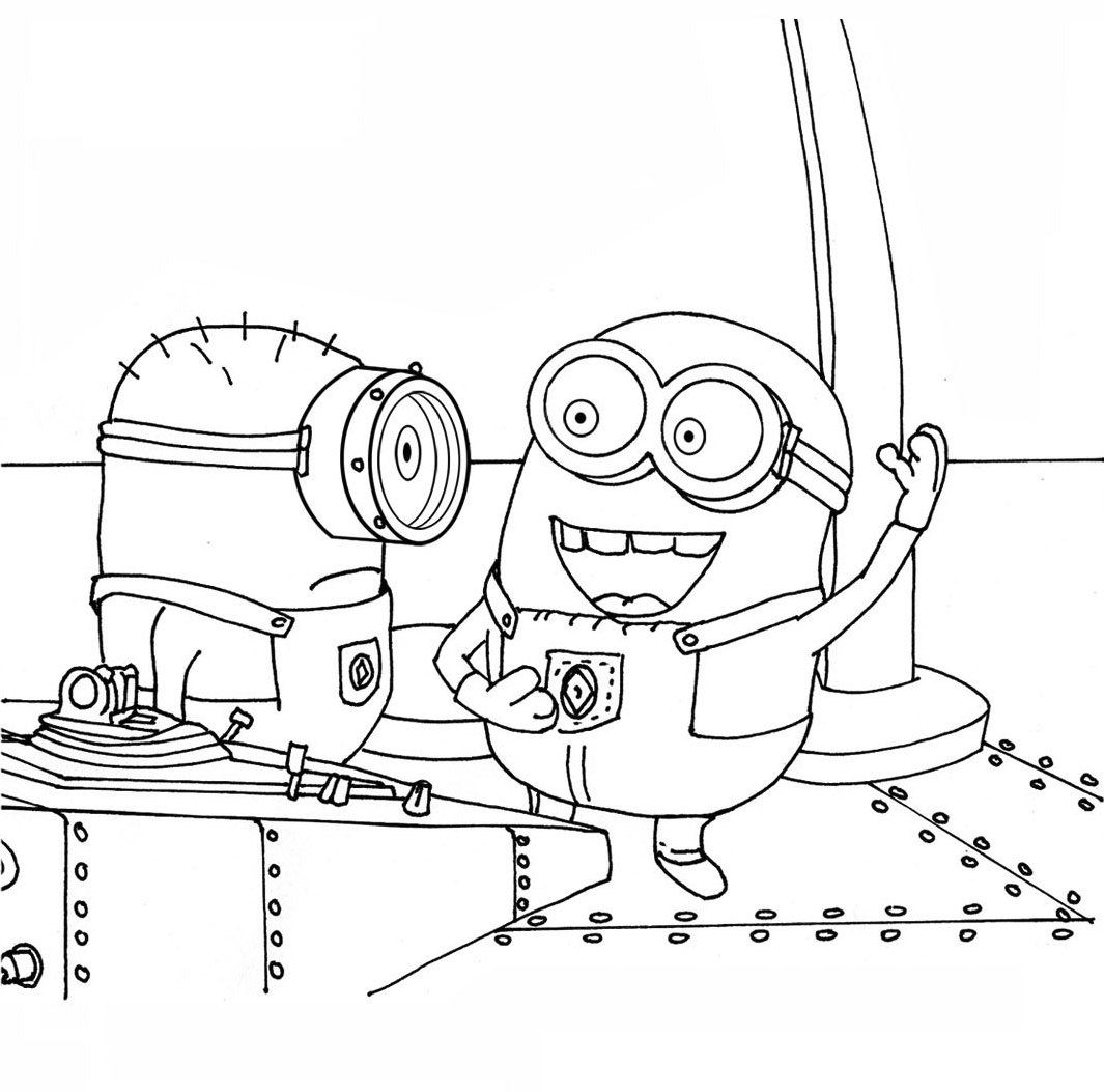 Stuart And His Friend Talking Coloring Pages | ALL THINGS MINION ...