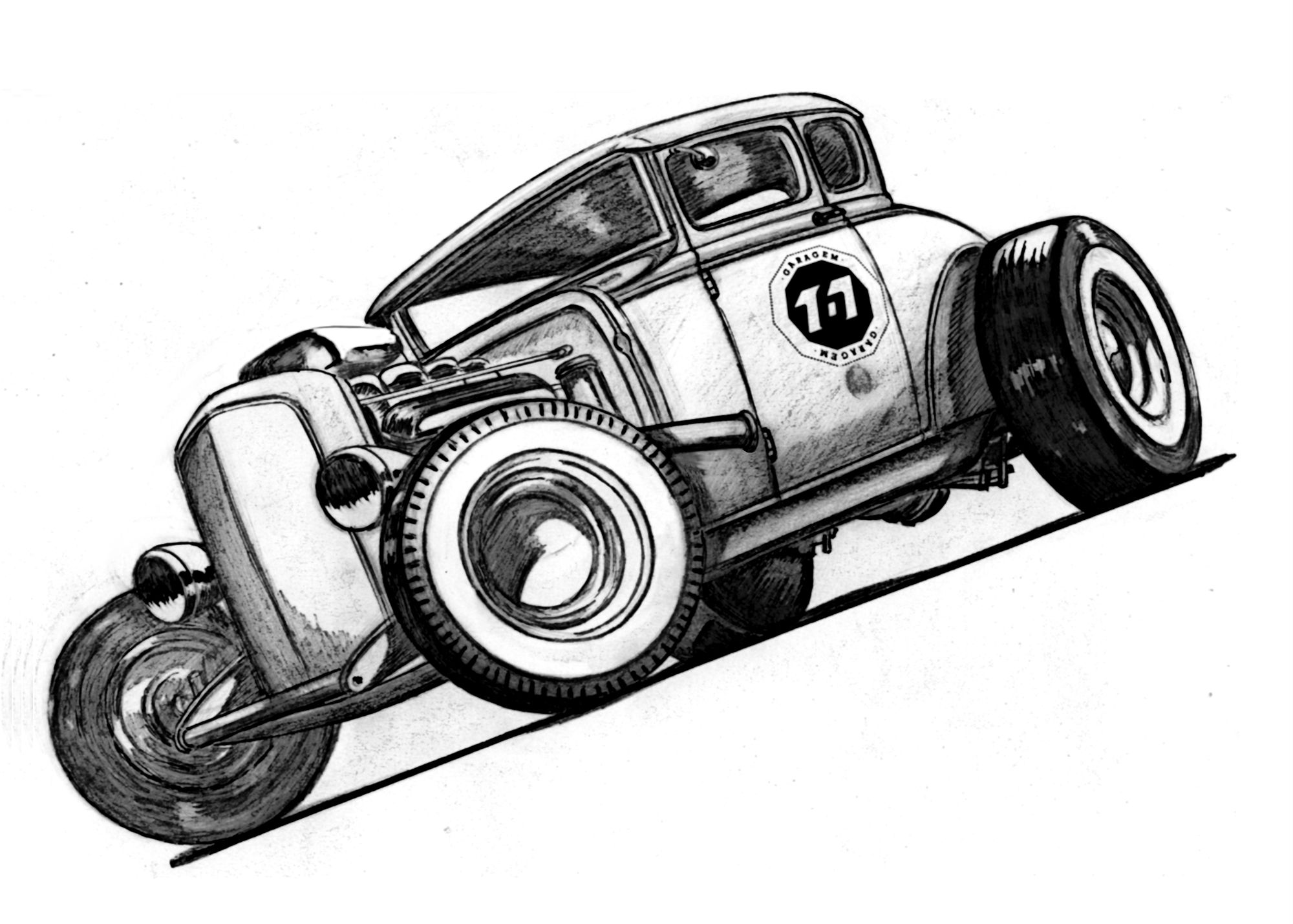 It's just a picture of Lucrative Drawing Of Hot Rods