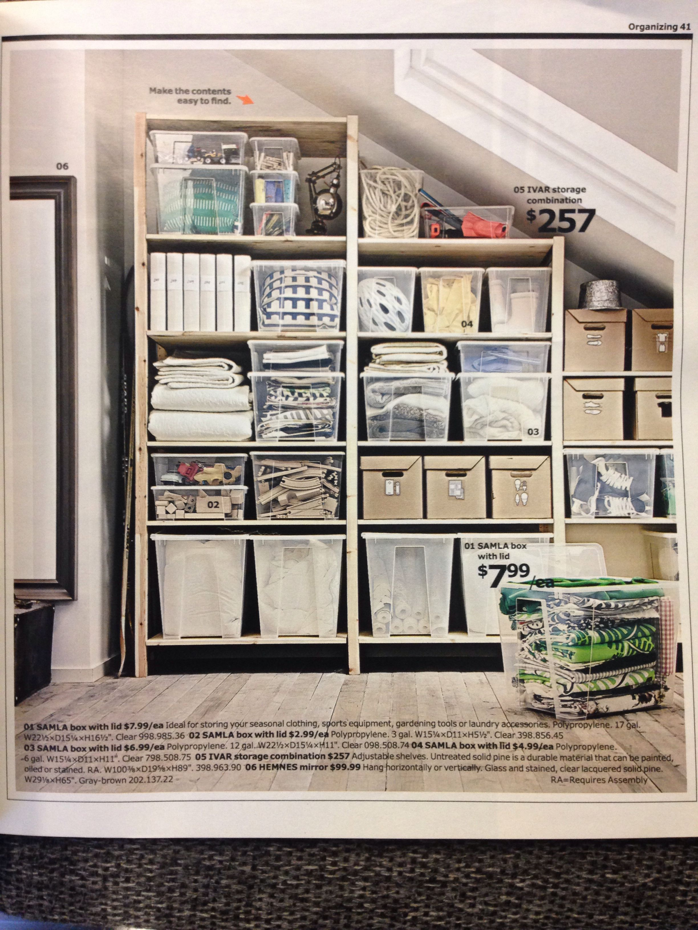 Ikea Küchenbrett ~ Ikea for shelving and storage i like the use of clear tubs for