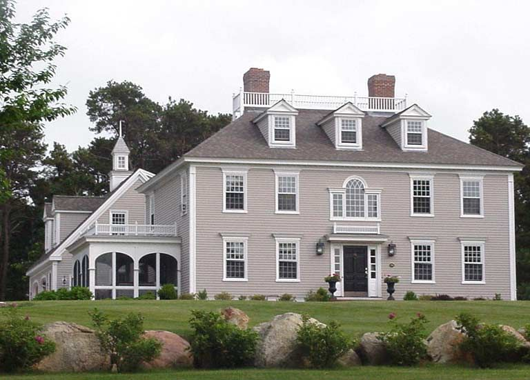 Brewster federal house classic colonial homes inc for Custom colonial homes