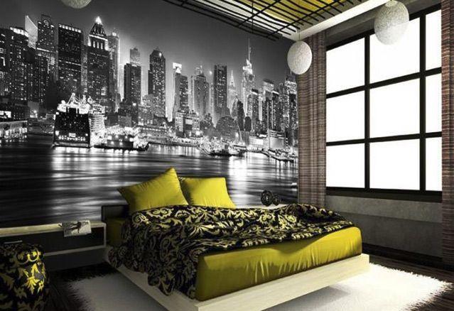 Impression de tapisserie murale jaune