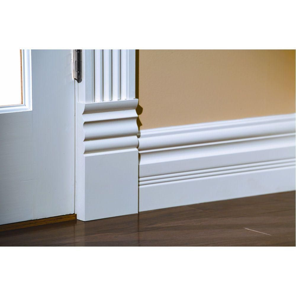 House Of Fara 1 In X 5 1 2 In X 9 3 8 In Mdf Victorian Plinth Block Moulding P559mdf In 2020 Baseboard Styles Plinth Blocks Baseboards