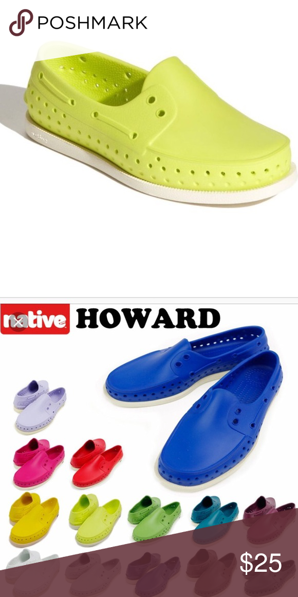 Kids Native Boy shoes Lime Green color