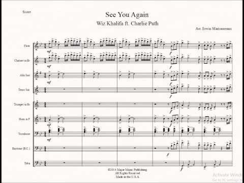 See You Again Wiz Khalifa For Marching Pep Band Sheet