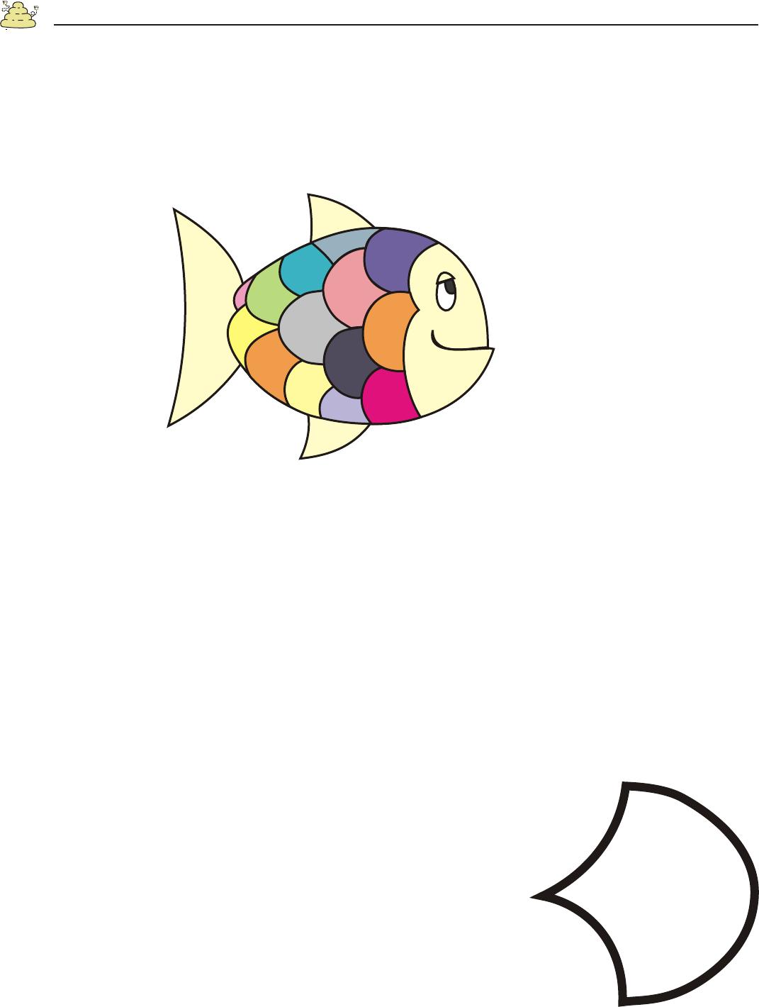 Rainbow Fish Template Pre K Art Pinterest Rainbow Fish