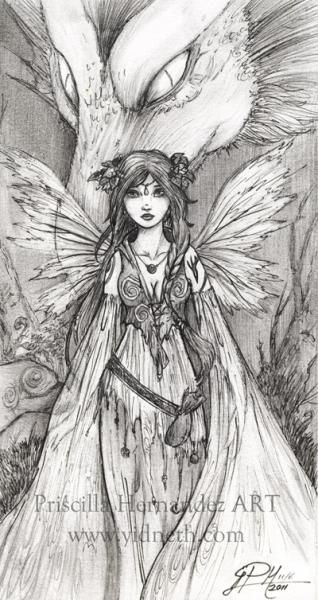 fairy - Free Gothic Fairy Coloring Pages