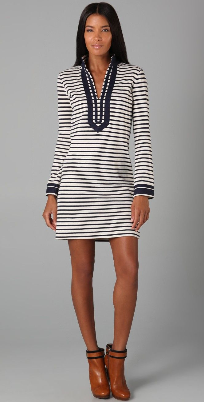 Tory Burch Tory Striped Mini Dress | SHOPBOP