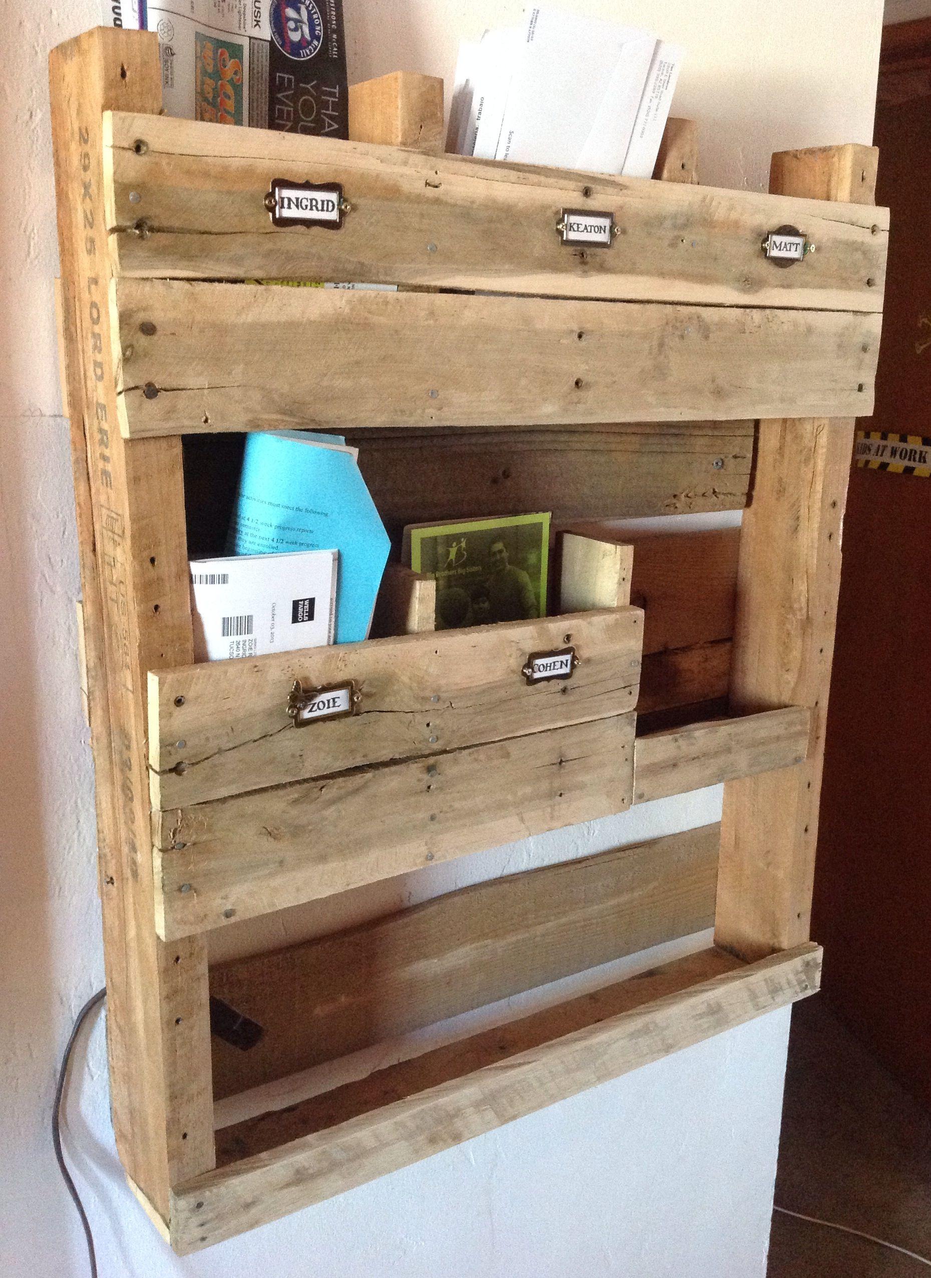 pallet mailbox i found the name tag holders at micheal 39 s holz pinterest m bel bauen. Black Bedroom Furniture Sets. Home Design Ideas
