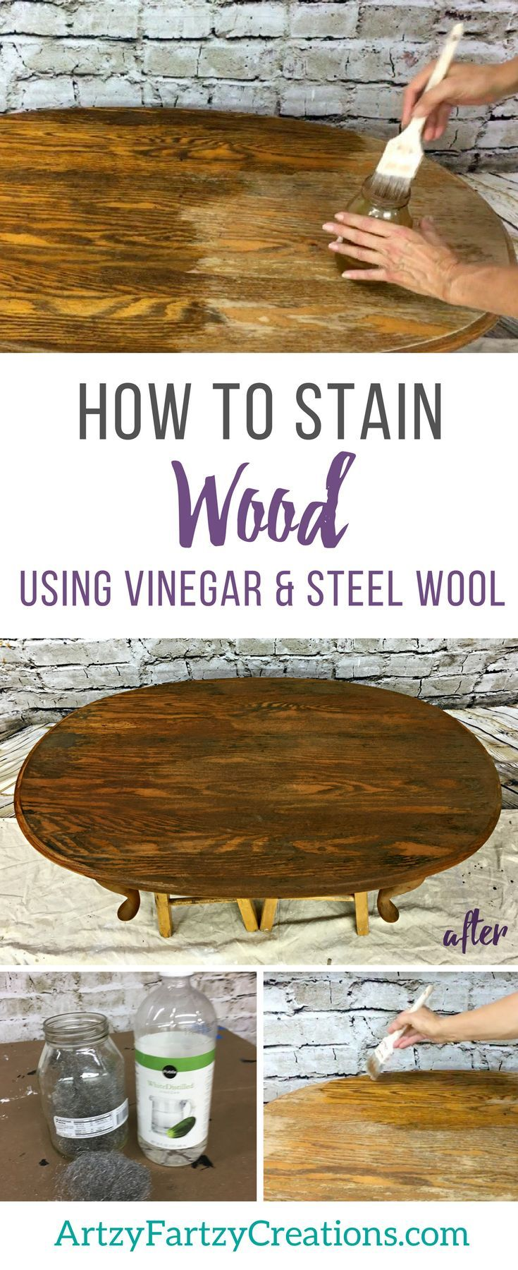 Ideas : How to Stain Wood using Vinegar - Wood Stain Furniture by Cheryl Phan | Furniture Painting Tips | Furniture Makeover