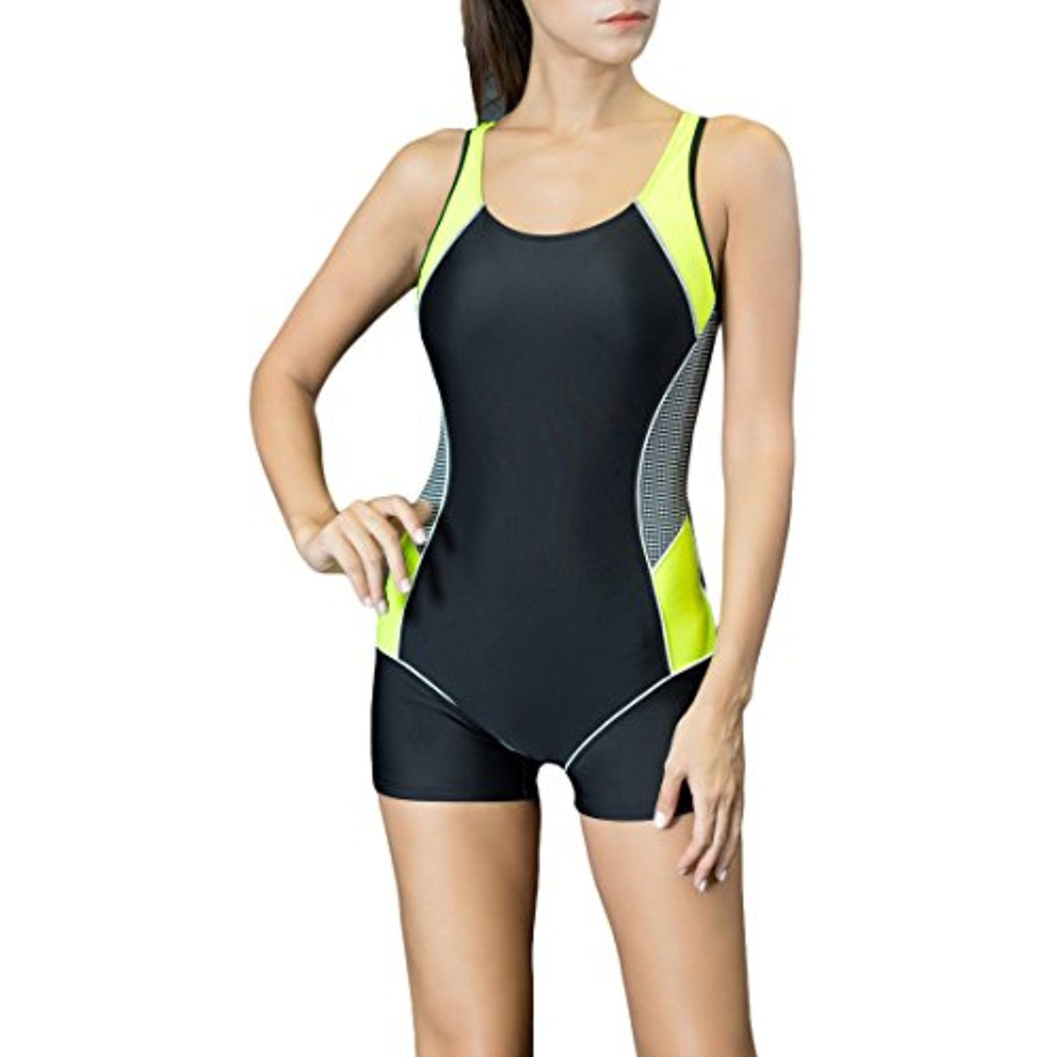 1ac0524946 Spring fever Women's One Piece Swimsuits Boyleg Sports Swimwear *** Be sure  to check out this awesome product. (This is an affiliate link) #Swimwear