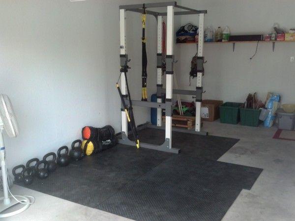 Trx Setup With Power Rack Gym Setup Home Gym Set Trendy Home