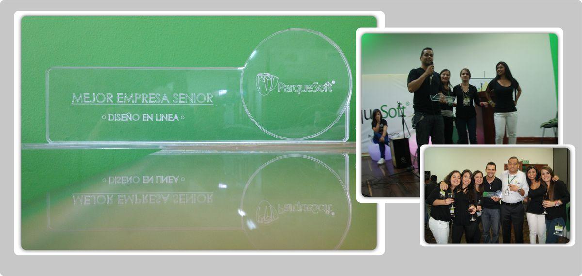 Mejor Empresa Senior ParqueSoft 2013!  Gracias parque por tan Grande Reconocimiento!! #Parquesoft Pereira #DisenoenLinea