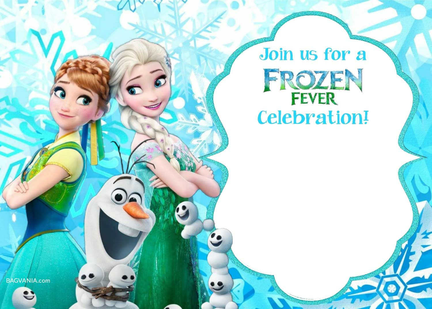 photograph regarding Frozen Printable Invitations named Free of charge Printable Frozen Invitation Templates Bagvania Cost-free
