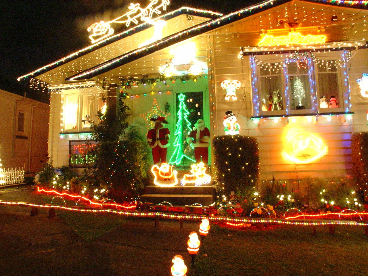 Christmas lights at Franklin Road, Auckland, New Zealand