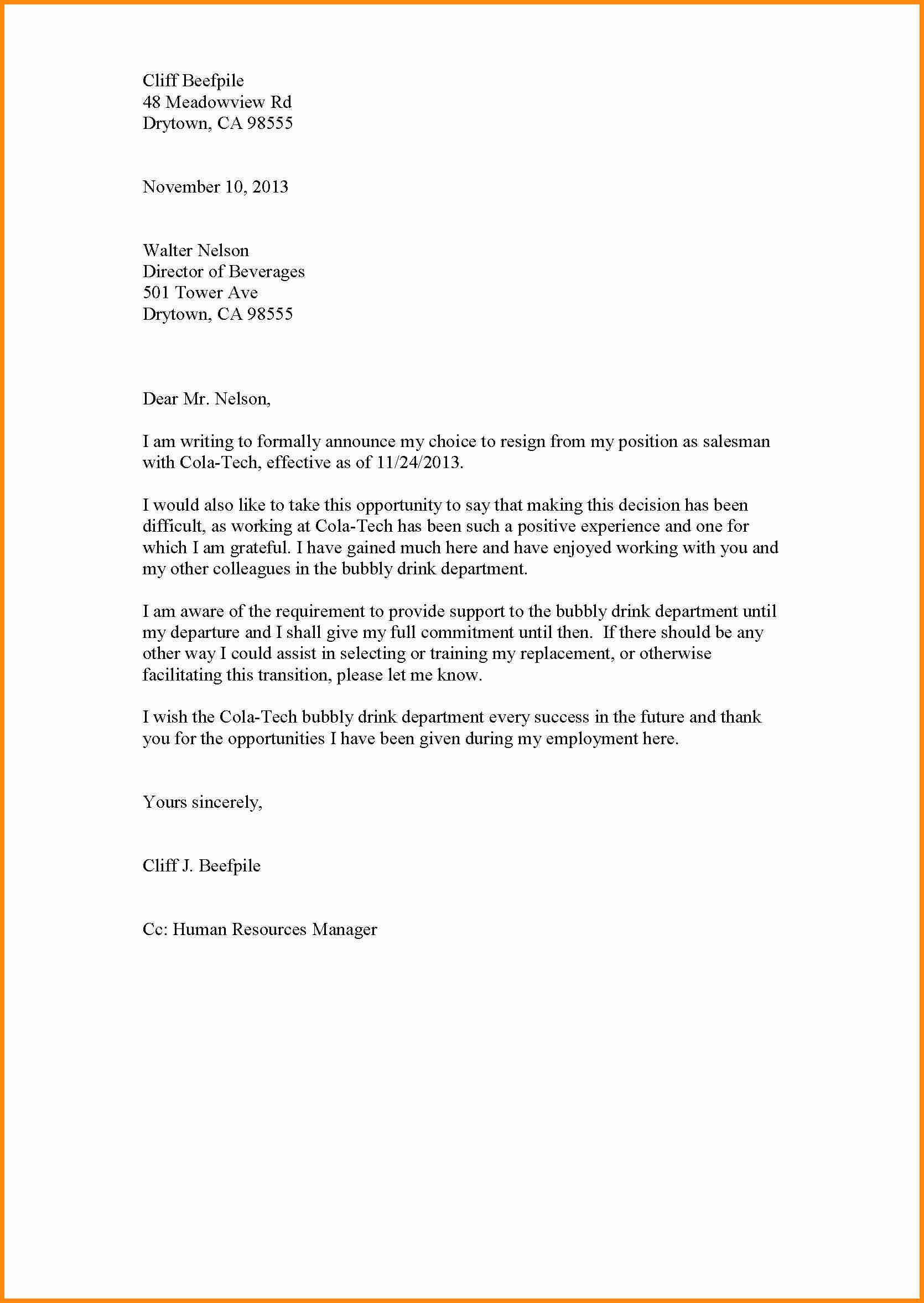 Image Result For Resign Letter Resignation Letter Resignation