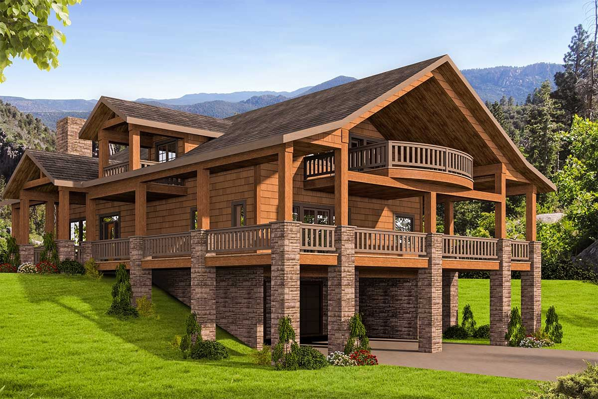 Plan 35544gh Mountain House Plan With Huge Wrap Around Porch Mountain House Plans Carriage House Plans Craftsman Style House Plans