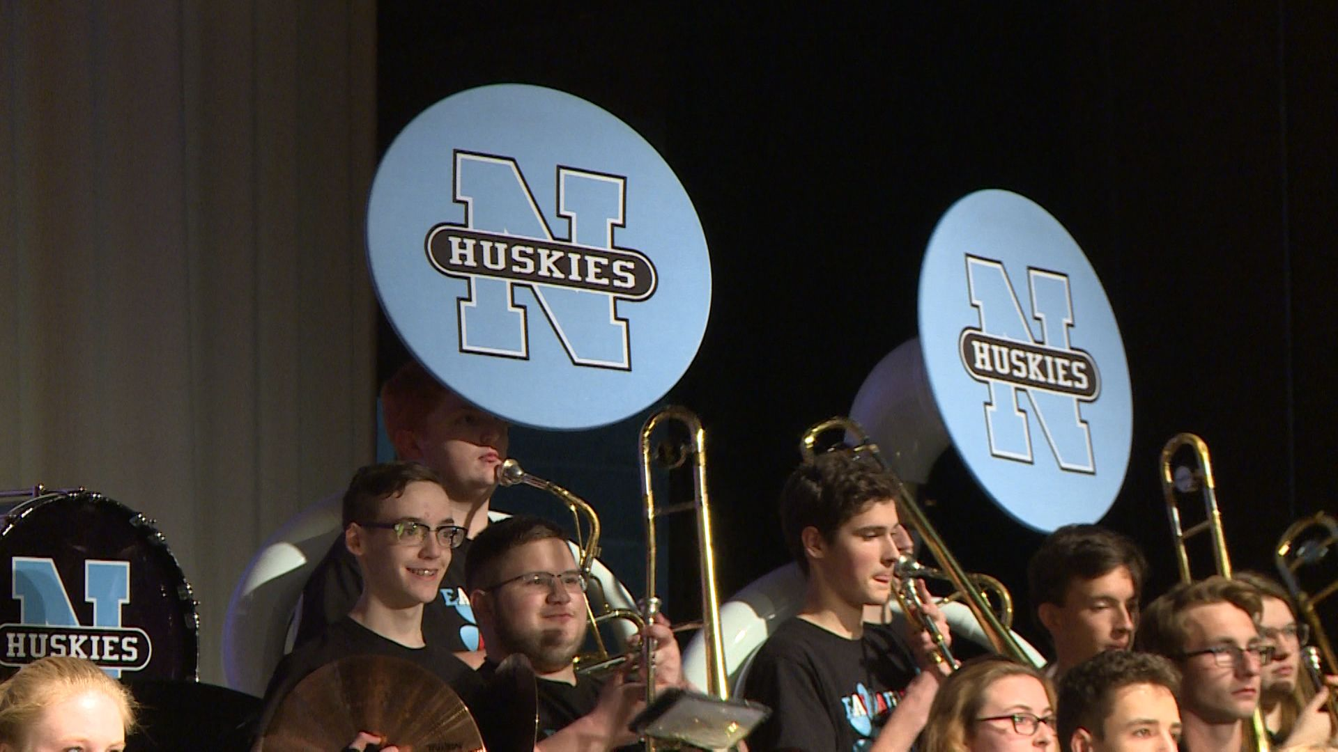 Eau Claire North's Marching Band hosts indoor show, helps local food bank