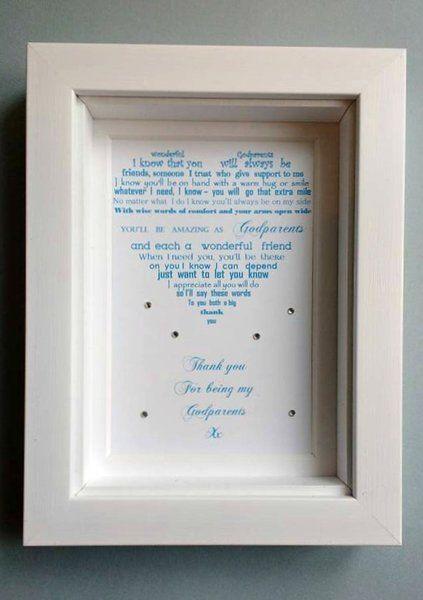 Godmother 7x5 Framed poem | Christening poems | Pinterest ...