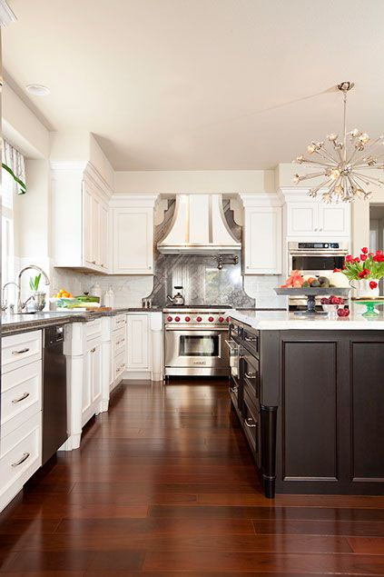 light and bright modern luxury melinda mandell traditional kitchen design contrasting on kitchen remodel floor id=67869
