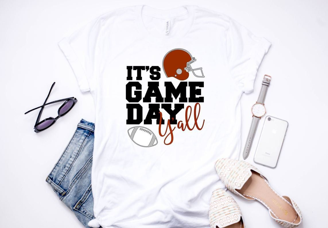 Its game day yall shirt game day shirt football etsy