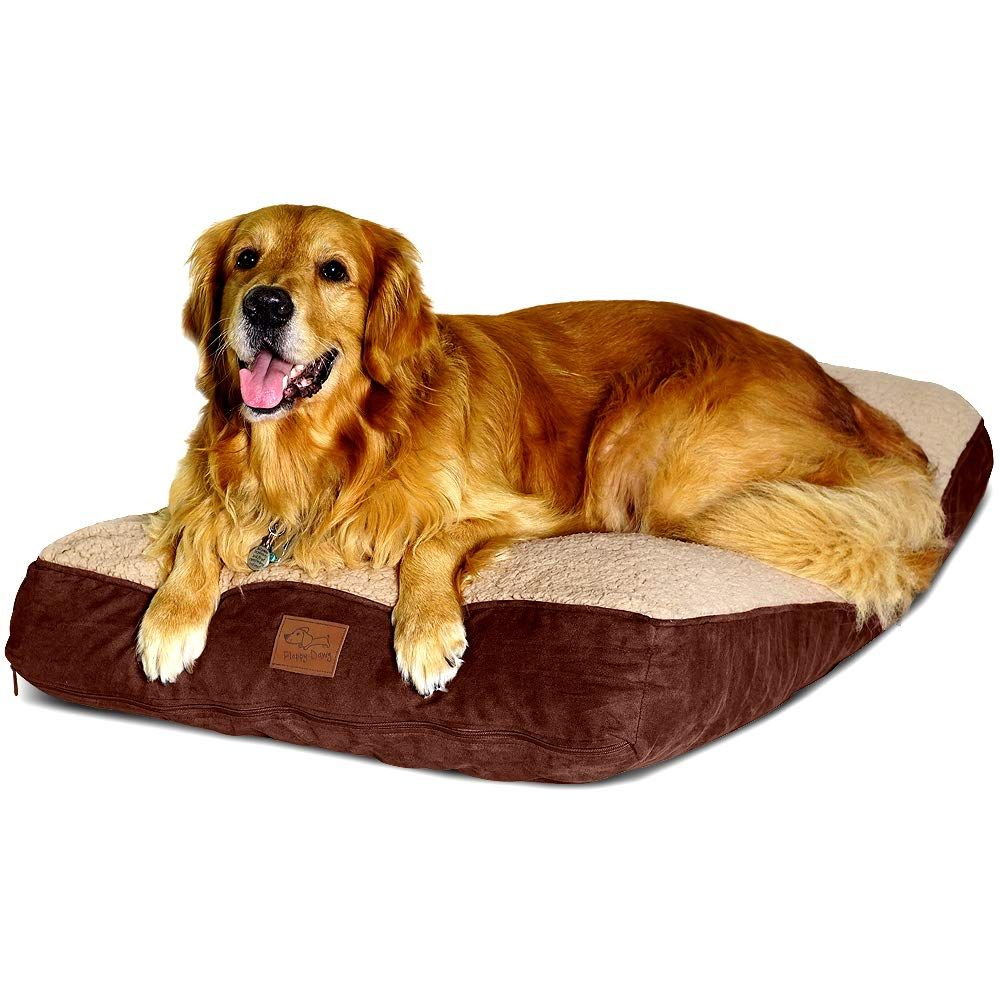 Floppy Dawg Large Dog Bed With Removable Cover And Waterproof Liner Made For Big Dogs Up To 90 Pounds Large Size 40 X 28 And S Dog Bed Large Dog Bed Big Dogs