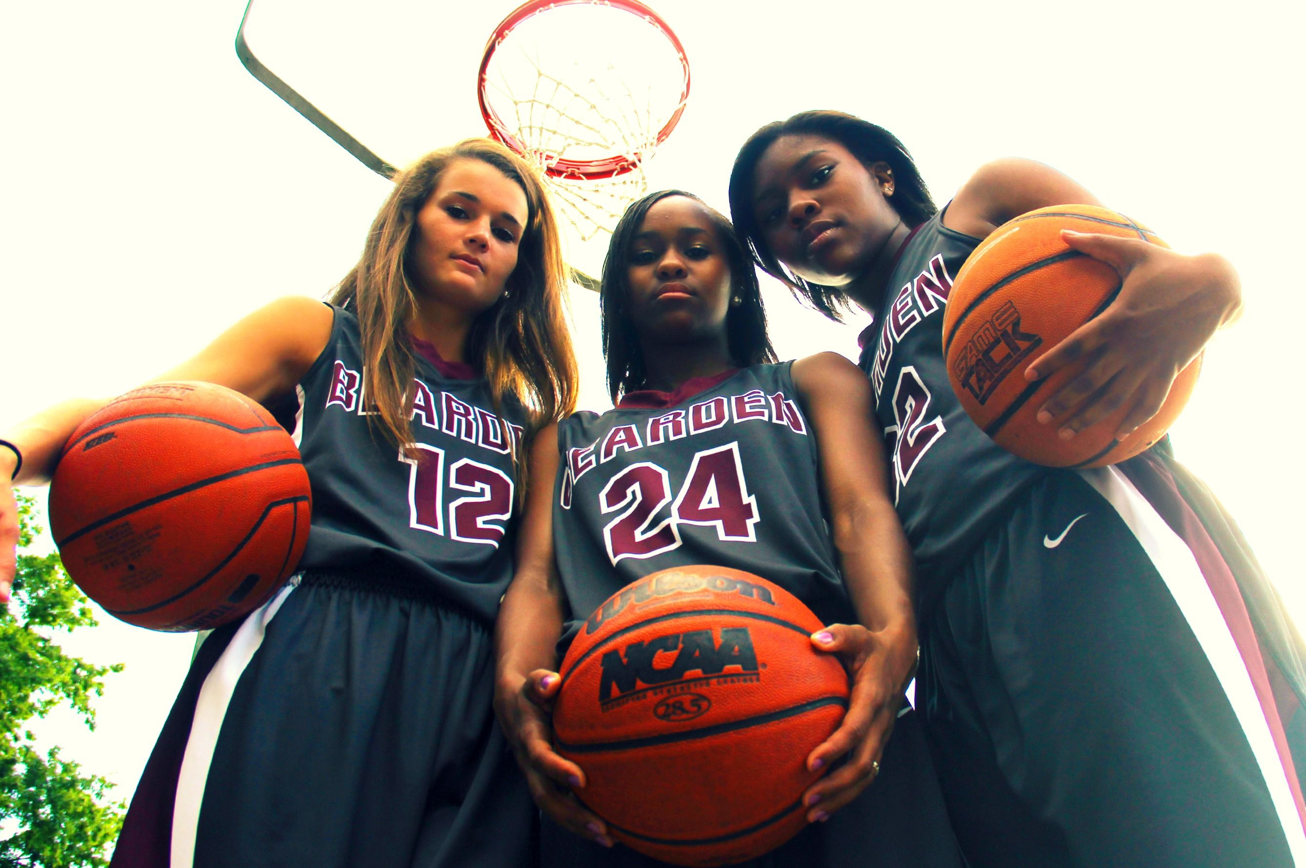 Girls Basketball Players - Senior Portrait Session. State bound!