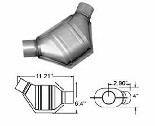 MagnaFlow Exhaust Products MagnaFlow 94265 Universal Catalytic Converter Non CARB Compliant