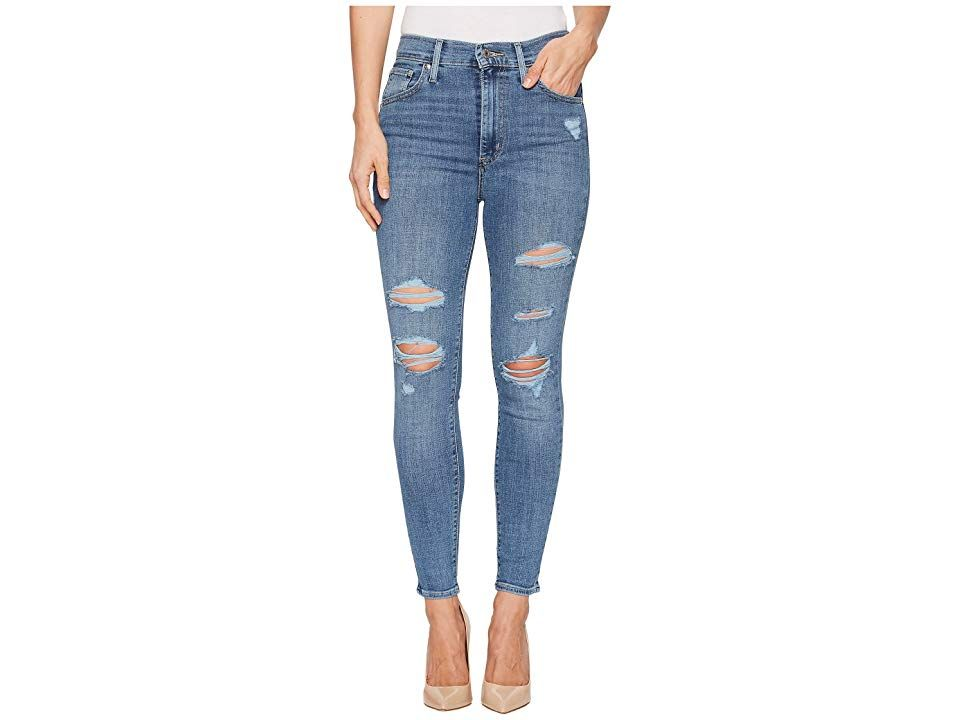 Levisr Womens Mile High Ankle Skinny Night To Remember Womens Clothing Let those legs out for a walk in the paintedon chic of the Mile High Ankle Skinny The Ankle Skinny...