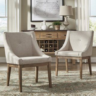 e168aae0160 Buy Linen Kitchen   Dining Room Chairs Online at Overstock