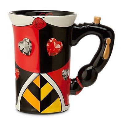 disney parks alice in wonderland queen of hearts dress ceramic mug new