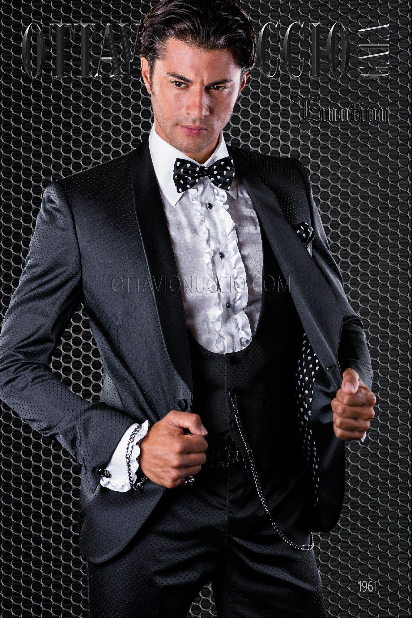Black shawl lapel modern groom tuxedo #luxury #menswear #wedding ...