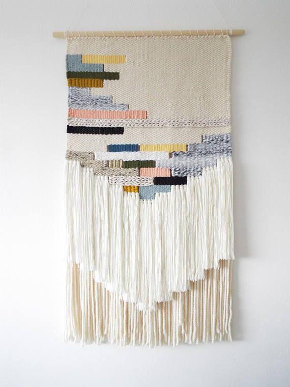 Woven Wall Hanging Wall Art Weaving Tissage Tapestry Crochet Wall Art Weaving Loom Projects Woven Wall Art