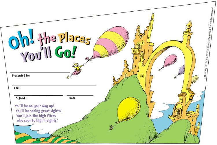 It is an image of Dynamic Oh the Places You'll Go Arrows Printable