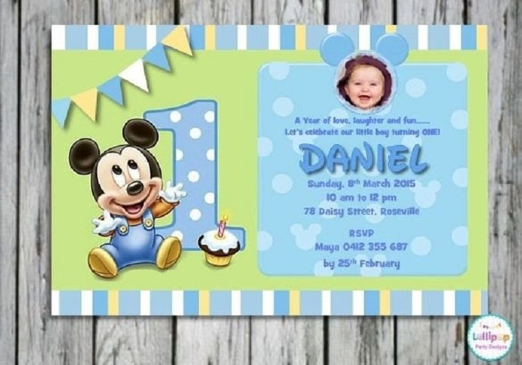 baby boy 1st birthday invitation templates party invitation card