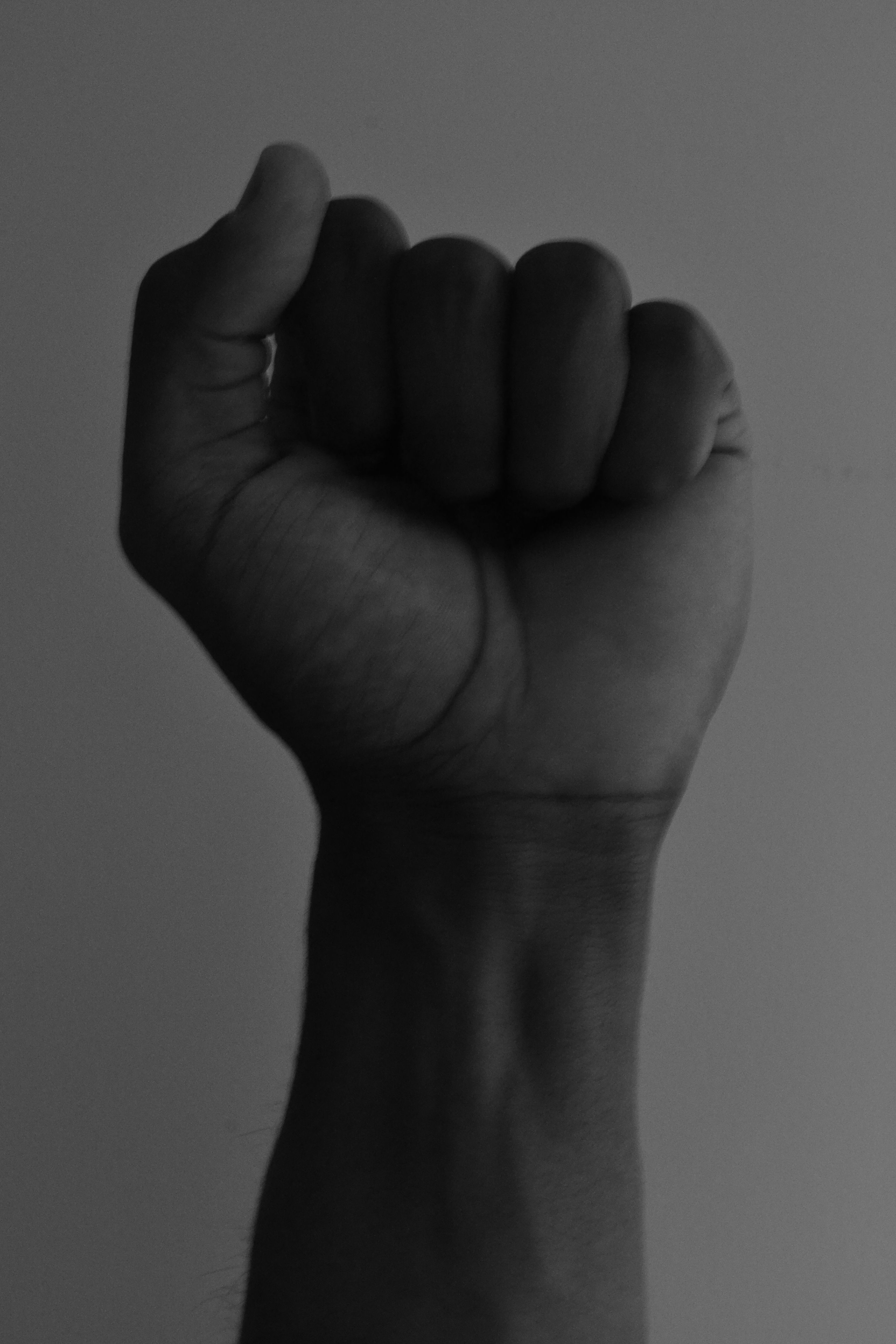 Communicating a Concept This image of a black fist is a