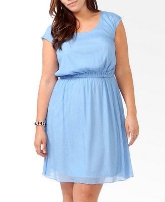 Sjy blue dress for Easter pictures this March from Forever21 size 3x