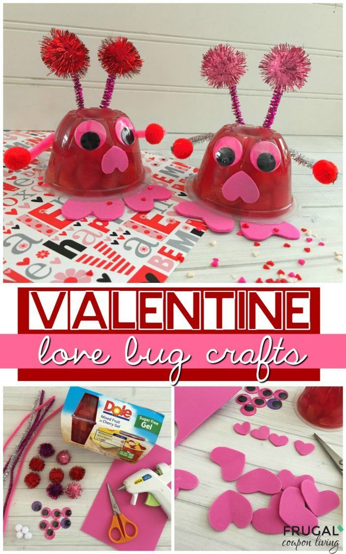 Valentine Love Bug Fruit Cups, a Kid's Food Craft on Frugal Coupon Living. Great for a Valentine Class Party Idea. #valentinesday #valentinesdaycrafts #crafts #craftsforkids #lovebug #valentinecrafts #valentinesdaycraftsforkids